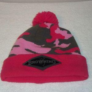 Browning Pink Camo Watch Cap